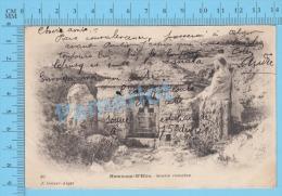 CPA Hammam R'Hira ( Source Romaine, Geiser à Alger Cover 1905, Eau à 75 Degrés ) 2 Scans - Algérie
