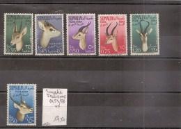 SOMALIE / SOMALIA   ( Occ. Italienne) Série De Timbres Neufs ** De 1950   ( Ref29H )  Animaux - Somalia (1960-...)