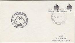 Ross Dependency 1977 Cover Ca Scott Base 2 De 77 Ca NZ Antarctic Programme Scott Base Send To Calverton N.Y. (F3701) - Brieven En Documenten