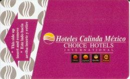 TARJETA DE HOTELES CALINDA (KEY CARD-LLAVE) MEXICO - Cartas De Hotels