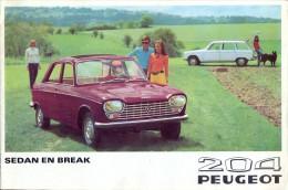 Pub. Reclame - Auto Voiture Sedan En Break Peugeot 204 - 1969 - Vieux Papiers