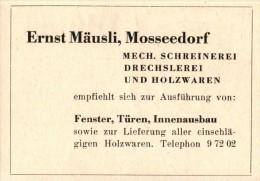 Original Werbung - 1947 - Ernst Beutler In Moosseedorf , Spenglerei !!! - Publicités
