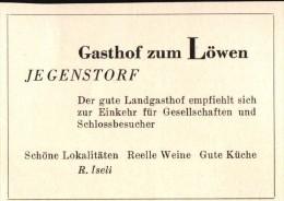 Original Werbung - 1947 - Gasthof Zum Löwen In Jegenstorf , Hotel , Restaurant , Schloss !!! - Publicités