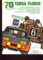 70 TARGA FLORIO 1986 RALLYE INT.LE EUROPEO CIR FISA TABELLA DISTANZE E TEMPI 16 PAG - Sports
