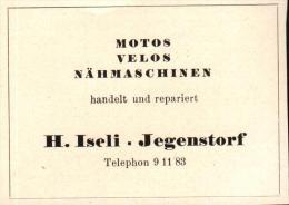 Original Werbung - 1947 - H. Iseli In Jegenstorf , Motos , Velos , Nähmaschinen !!! - Publicités