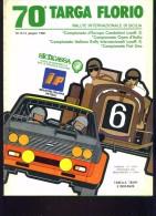 70 TARGA FLORIO 1986 RALLYE INT.LE EUROPEO CIR TABELLA DISTANZE E TEMPI 16 PAG - Deportes
