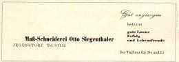 Original Werbung - 1947 - Maßschneiderei In Jegenstorf , Otto Siegenthaler , Schneider !!! - Publicités