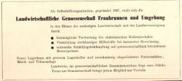 Original Werbung - 1947 - Landwirtschaftliche Genossenschaft In Fraubrunnen , Landwirtschaft , Agrar !!! - Publicités