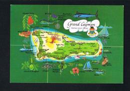 GRAND CAYMAN - BRITISH WEST INDIES - Carte Géographique --  SCANS RECTO VERSO - Postcards
