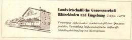 Original Werbung - 1947 - Landwirtschaftliche Genossenschaft In Bätterkinden , Landwirtschaft , Agrar !!! - Publicités