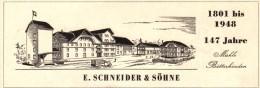 Original Werbung - 1947 - F. Schneider & Söhne In Bätterkinden , Mühle !!! - Publicités