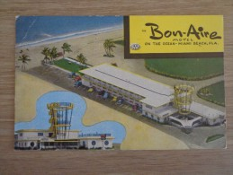 CPA ETATS UNIS MIAMI BEACH MOTEL BON AIRE - Miami Beach