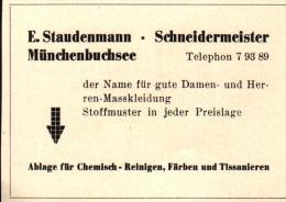 Original Werbung - 1947 - E. Staudenmann In Münchenbuchsee , Schneider !!! - Publicités