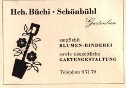 Original Werbung - 1947 - H. Büchi In Schönbühl - Bern , Gartenbau , Blumen-Binderei !!! - Publicités