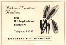 Original Werbung - 1947 - M. Läng-Rychener In Utzenstorf , Bäckerei , Konditorei !!! - Publicités