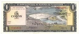 EL SALVADOR, 1 Colon, 1976 UNC. - El Salvador