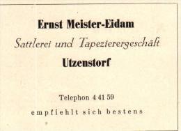 Original Werbung - 1947 - Ernst Meister-Eidam In Utzenstorf , Sattlerei !!! - Publicités