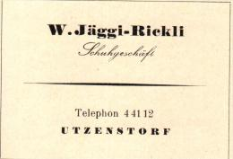 Original Werbung - 1947 - W. Jäggi-Rickli In Utzenstorf , Schuhgeschäft , Schuhe !!! - Publicités
