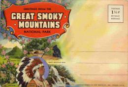 Great Smoky Mountains-carte Postale- Indien Cherokee-ours+  Dépliant18  Photos Couleurs-années 30 - Etats-Unis
