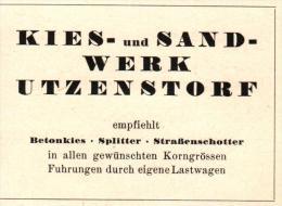 Original Werbung - 1947 - Kies- Und Sandwerk In Utzenstorf !!! - Publicités
