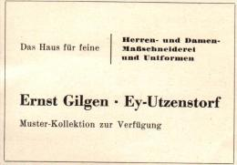 Original Werbung - 1947 - Ernst Gilgen In Ey - Utzenstorf , Maßschneiderei , Uniform !!! - Publicités
