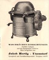 Original Werbung - 1947 - Jakob Hertig In Utzenstorf , Waschküchen !!! - Publicités