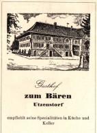 Original Werbung - 1947 - Gasthof Zum Bären In Utzenstorf , Hotel , Restaurant !!! - Publicités