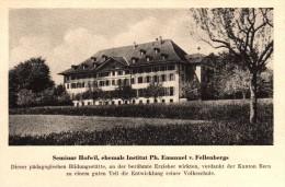 Original Werbung - 1947 - Seminar Hofwil , Institut Ph. Emanuel Von Fellenbergs , Münchenbuchsee !!! - Publicités