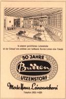 Original Werbung - 1947 - Modehaus Und Leinweberei In Utzenstorf  , Burren-Leinen !!! - Publicités