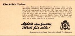 Original Werbung - 1947 - Brot Für Alle , Gewerbeverband Fraubrunnen !!! - Publicités