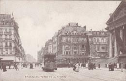 Brussel, Bruxelles Place De La Bourse, Tram, Tramways (pk19891) - Places, Squares