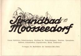 Original Werbung - 1947 - Strandbad Moosseedorf !!! - Publicités
