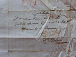 LETTRE MARCA BEJAR CASTA LAVIEJA 9 A BARCELONE 1843 MANUSCRIT CATALUNA - Spain