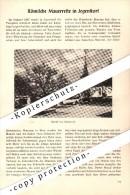 Original Zeitungsbericht - 1947 - Römische Mauerreste In Jegenstorf !!! - Documents Historiques