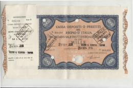 DE621-Gennaio 1943 CASSA DEPOSITI E PRESTITI Lire 1000 BUONO FRUTTIFERO AL PORTATORE - Monete & Banconote