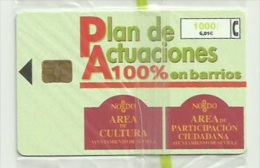 ESPAÑA AÑO 2000 - TARJETA TELEFONICA PLAN DE ACTUACIOINES EN BARRIOS -  1000 PESETAS (NUEVA Y PRECINTADA) - Espagne