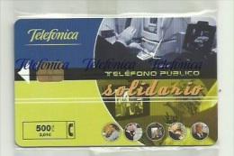 ESPAÑA AÑO 2000 - TARJETA TELEFONICA - TELEFONO PUBLICO SOLIDARIO - 500 PESETAS (NUEVA Y PRECINTADA) - Espagne