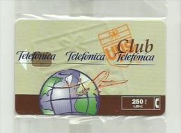 ESPAÑA AÑO 2000 - TARJETA TELEFONICA - CLUB UPS - 250 PESETAS (NUEVA Y PRECINTADA) - Espagne
