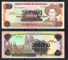 NICARAGUA 1990. 200000 CORDOBAS PICK 162 NUEVO SIN CIRCULAR UNCIRCULATED  .B147 BIS - Nicaragua
