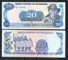 NICARAGUA 1985 20 CORDOBAS  COMANDANTE POMARES ORDOÑEZ PICK 152 NUEVO SIN CIRCULAR UNCIRCULATED  .B148 BIS - Nicaragua