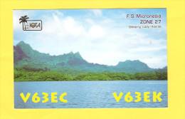 Postcard - QSL Postcard, Kosrae Island, Micronesia      (19980) - Radio Amatoriale