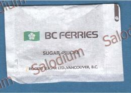 QUEEN OF THE NORTH - BC FERRIES - VANCOUVER - BARCA BOAT  - BUSTINA DI ZUCCHERO VUOTA - Sugar Empty - Sugars