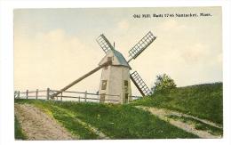 MA14 Old Mill, Built 1746, Nantucket, Massachusetts, Vintage Postcard. - Nantucket