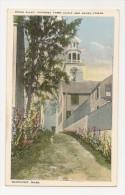 MA17 Stone Alley, Town Clock, South Tower, Nantucket, Massachusetts, Vintage Postcard. - Nantucket