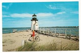 MA18 Brant Point Lighthouse, Nantucket, Massachusetts, Vintage Postcard. - Nantucket