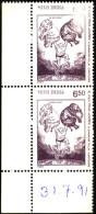 CARTOONS-K SHANKAR PILLAI-ELEPHANTS-PAIR-INDIA-1991-MNH-A5-856 - Inde