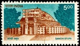 RELIGIONS-BUDDHISM-SANCHI STUPA-500p-INDIA-MNH-A5-869 - Buddhism