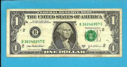 U. S. A. - 1 DOLLAR - 2003 A - Pick 515 B - ( B ) - BANK OF NEW YORK - 2 Scans - Federal Reserve Notes (1928-...)