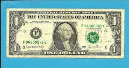 U. S. A. - 1 DOLLAR - 2003 A - Pick 515 B - ( F ) - BANK OF ATLANTA - GEORGIA   - 2 Scans - Federal Reserve Notes (1928-...)