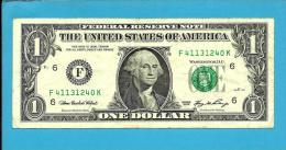 U. S. A. - 1 DOLLAR - 2006 - Pick 523 - ( F ) - BANK OF ATLANTA - GEORGIA   - 2 Scans - Federal Reserve Notes (1928-...)